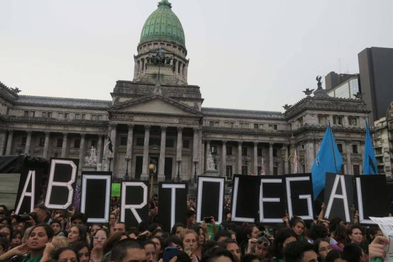 aborto legal frente al congreso